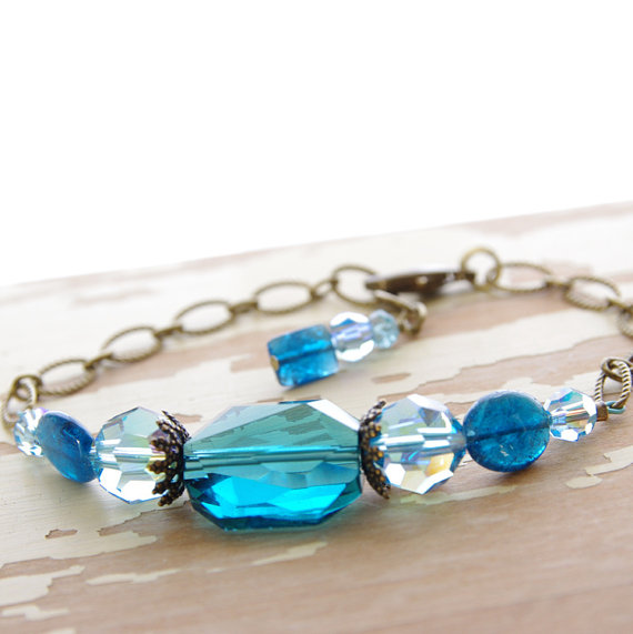 Blue Bladed Handmade Jewelry