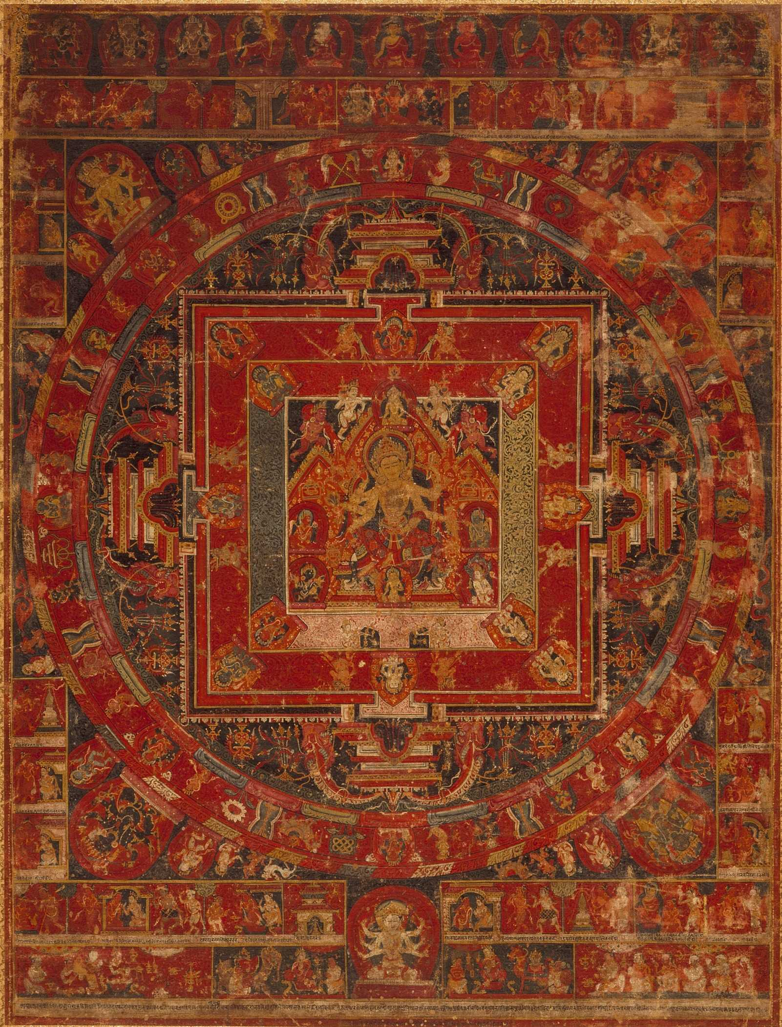 Mandala-of-Vasudhara-LACMA-thangka painting